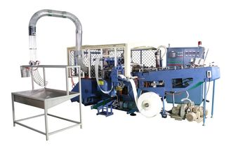 35kw Automatic High Speed Paper Container Making Machine with Flameless Hot Air Sealing